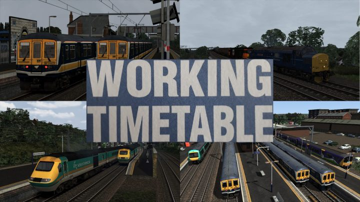 WORKING TIMETABLE SCENARIOS – SCENARIO PACK 9 – MIDLAND MAIN LINE LONDON ST. PANCRAS TO BEDFORD  2002