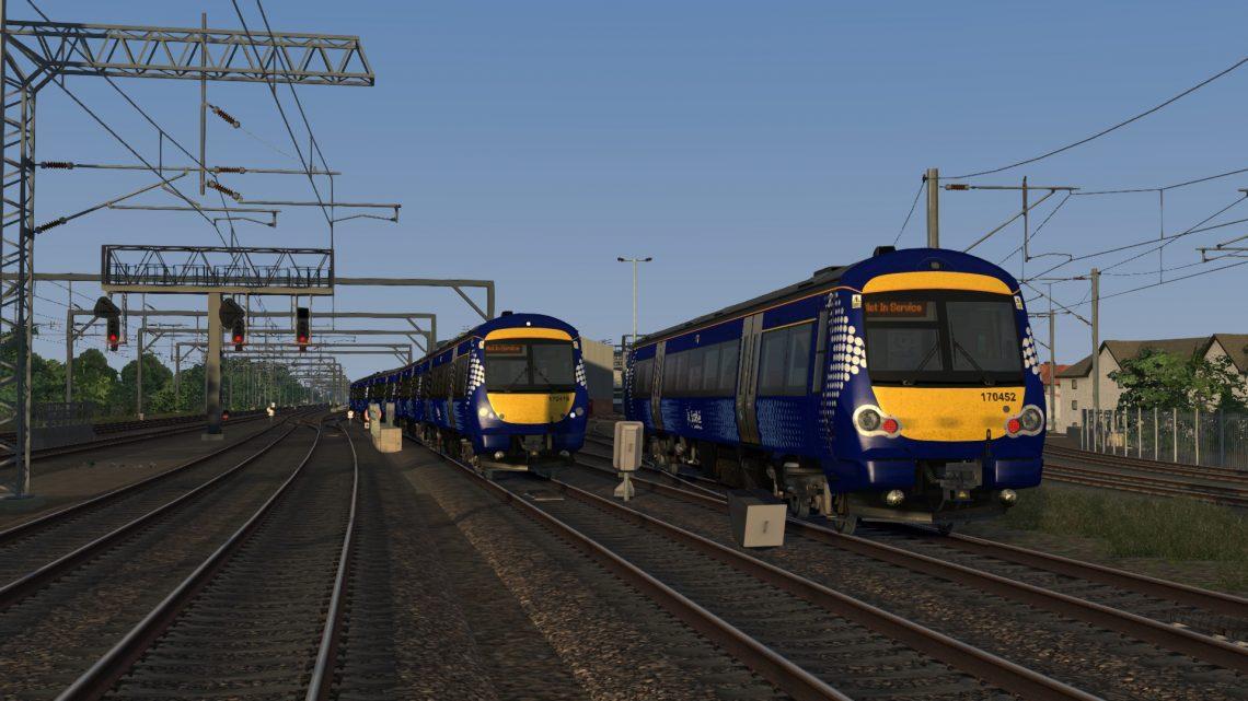 5T60 0558 Haymarket Depot to Edinburgh – Class 170