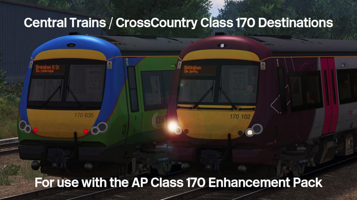 Class 170 Destinations (CT / XC)