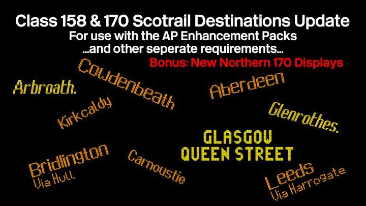 Class 158 & 170 Scotrail Destination Pack V2.1 (06/05/2021)