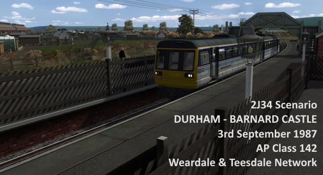 2J34 – Durham to Barnard Castle (3/9/1987) AP Class 142, Weardale & Teesdale Network
