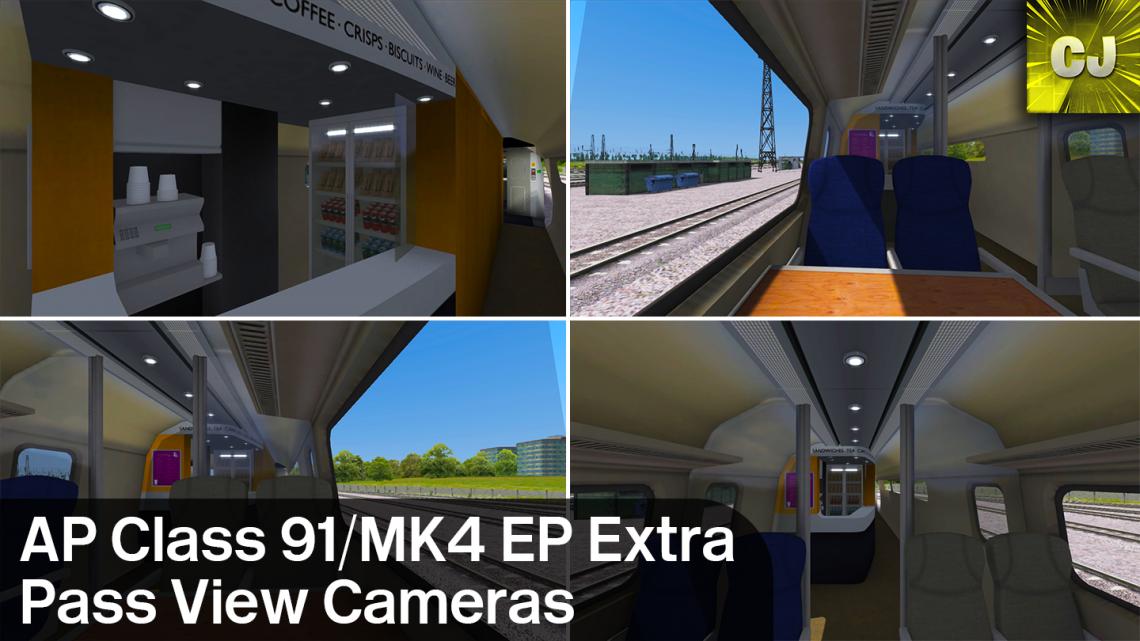 AP Class 91/MK4 Extra Passenger View Cameras