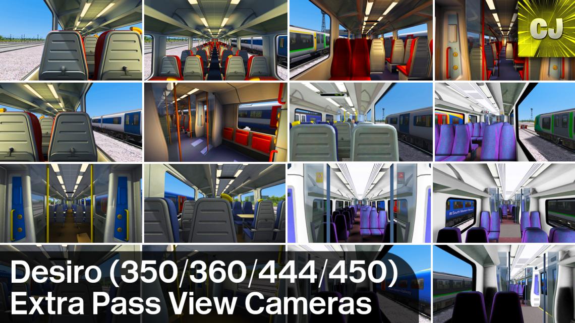 UK Desiro Extra Pass View Cameras (350/360/444/450)