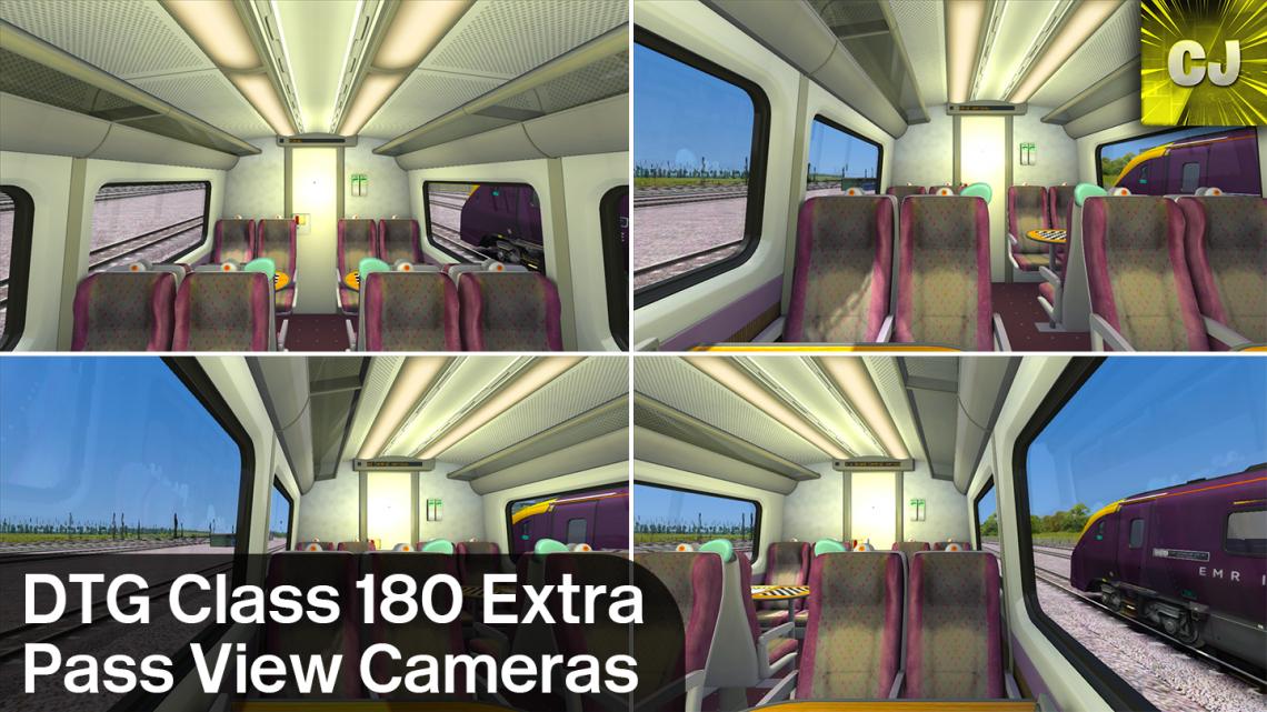 DTG Class 180 Extra Pass View Cameras