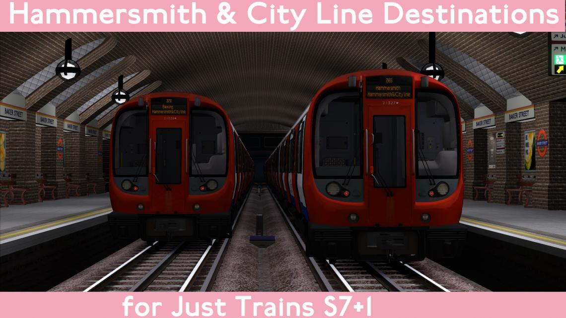 Hammersmith & City line S7 Destinations
