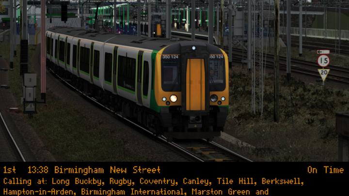 (wg) 2Y65 1338 Northampton – Birmingham New Street