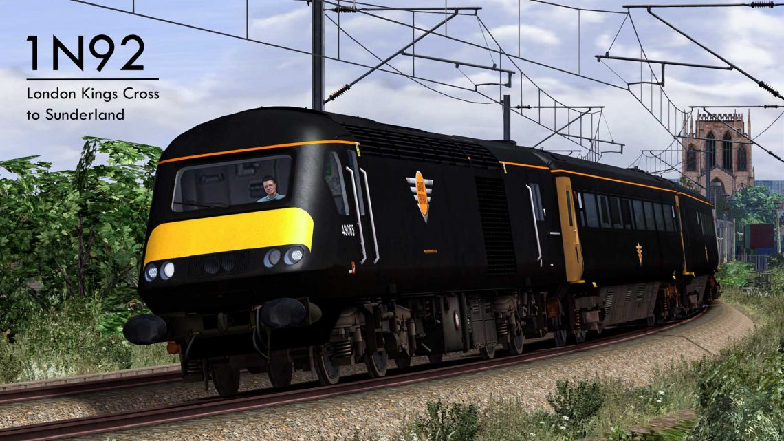 1N92 1127 London Kings Cross to Sunderland