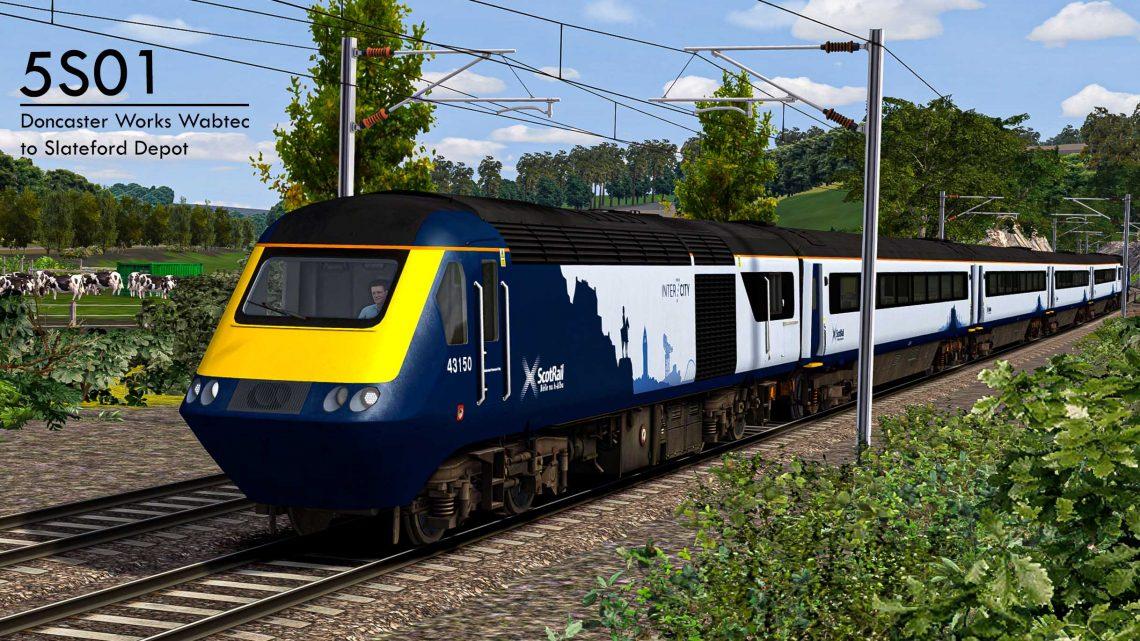 5S01 1320 Doncaster Works Wabtec to Slateford Depot