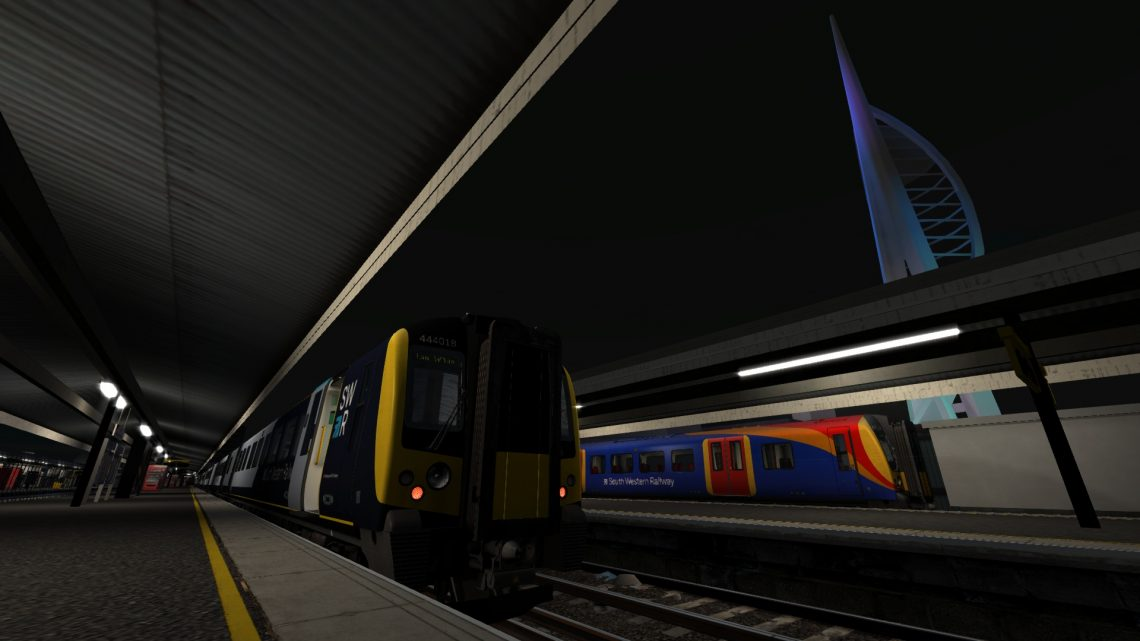 1P74 20:45 Portsmouth Harbour – London Waterloo (Via Guildford)