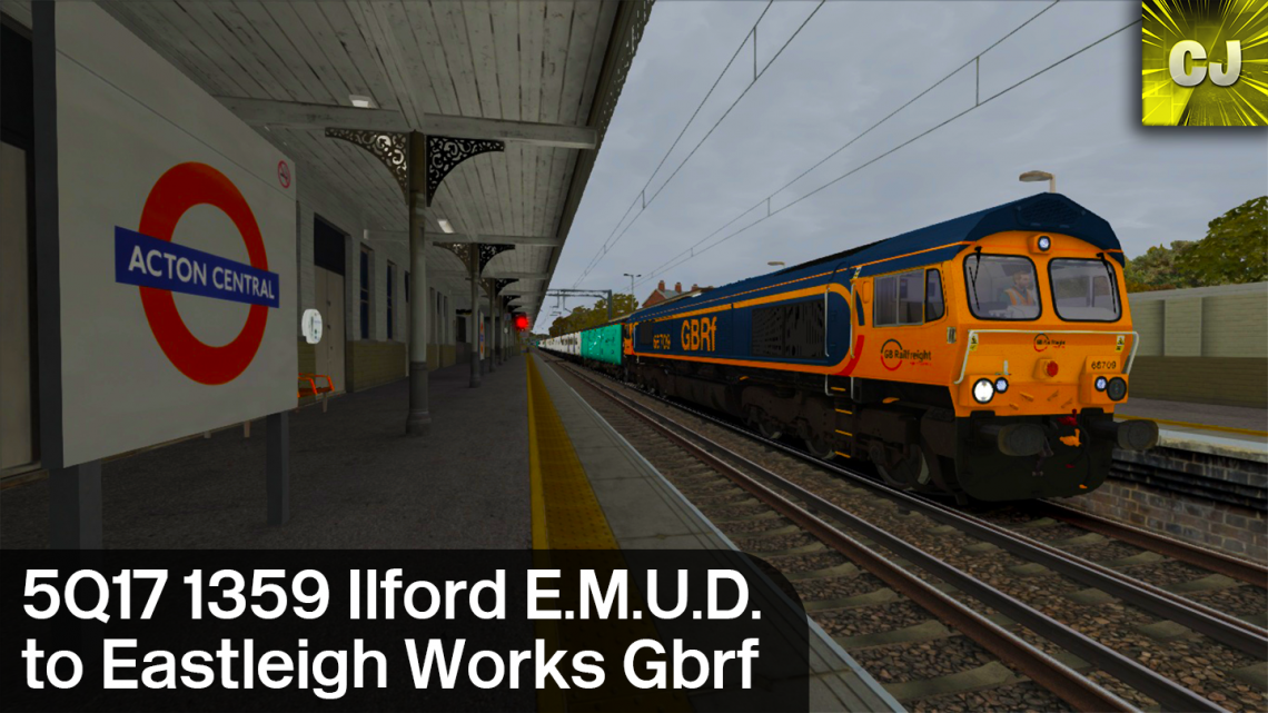 5Q17 1359 Ilford E.M.U.D. to Eastleigh Works Gbrf