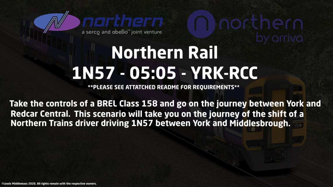 1N57 – 0505 – York to Redcar Central.