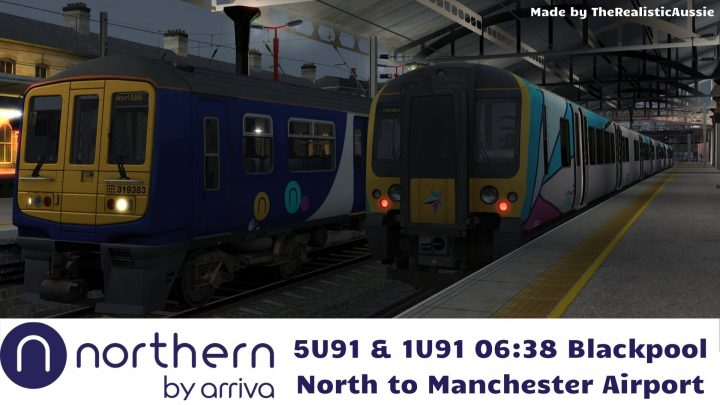 (TRA) 12/12/18 5U91 & 1U91 06:38 Blackpool North to Manchester Airport
