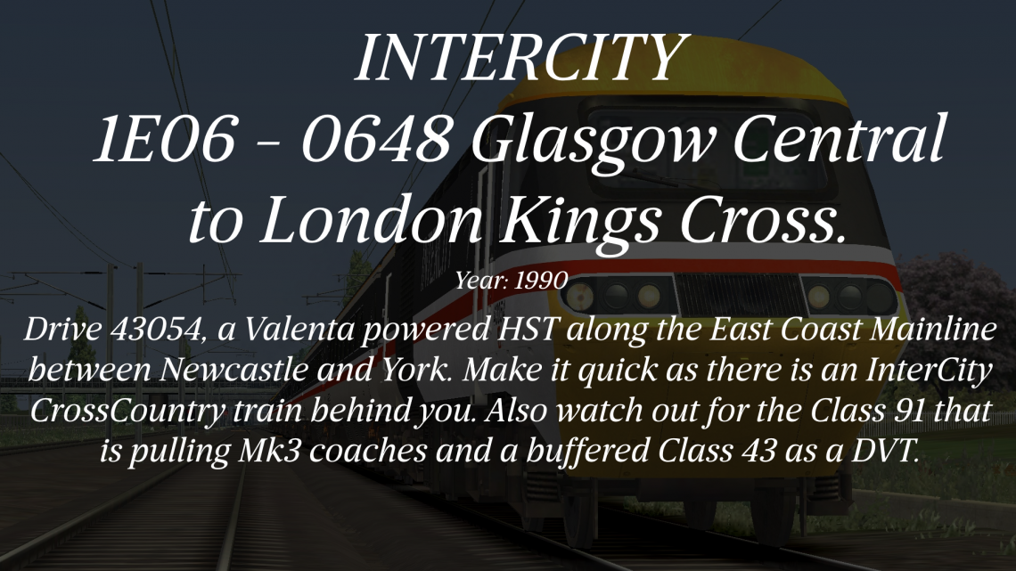 1E06 – 0648 – Glasgow Central to London Kings Cross