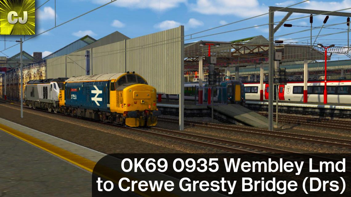 0K69 0935 Wembley Lmd to Crewe Gresty Bridge (Drs)
