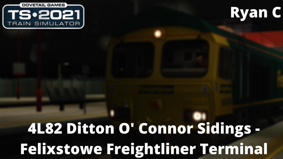 4L82: Ditton O' Connor Sidings – Felixstowe Freightliner Terminal