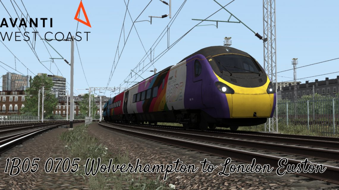 (GR)1B05 0705 Wolverhampton to London Euston *(Full Run)