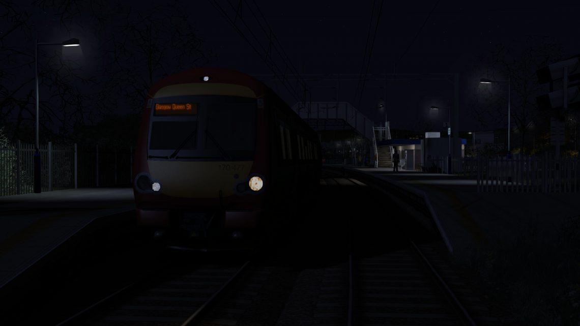 2Y72 0005 Westerton to Glasgow Queen Street – Class 170