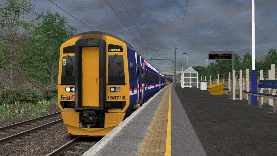 2G34 0934 Newcraighall to Edinburgh – Class 158!