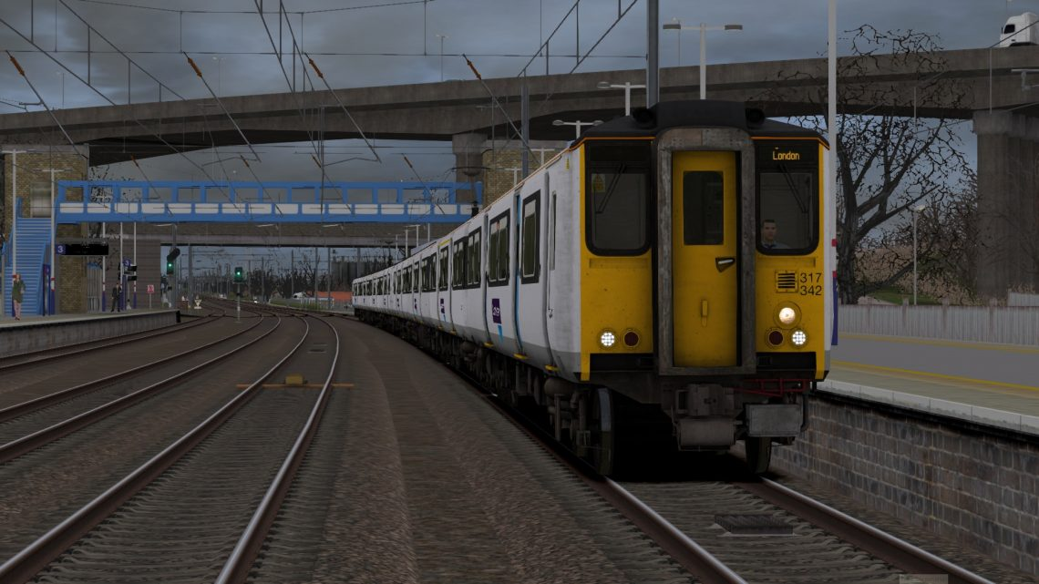1P15 1015 Peterborough to London Kings Cross – Class 317s