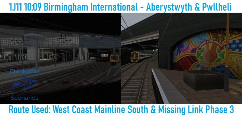 [CB] 1J11 10:09 Birmingham International – Aberystwyth & Pwllheli