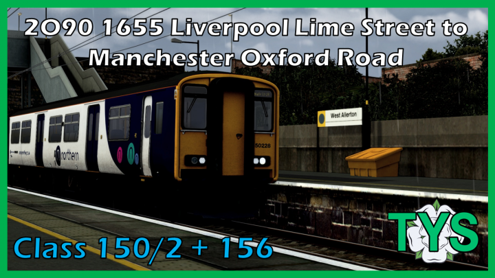 2O90 1655 Liverpool Lime Street to Manchester Oxford Road