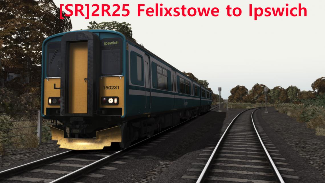 [SR] 2R25 Felixstowe to Ipswich.