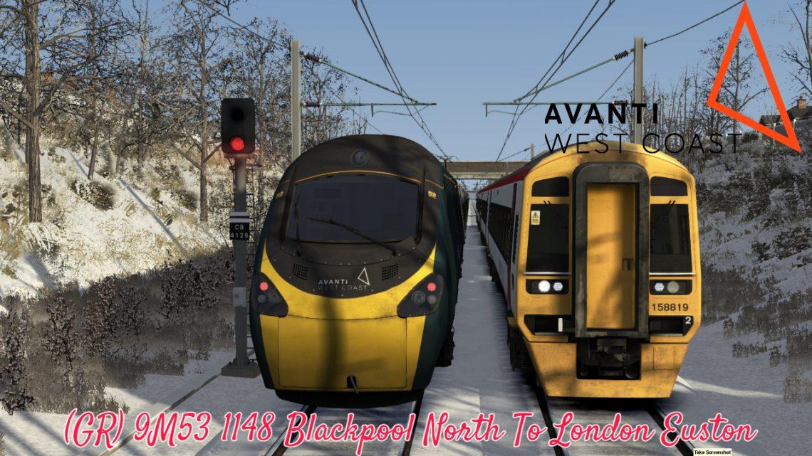 (GR) 9M53 1148 Blackpool North To London Euston *(Full Run)