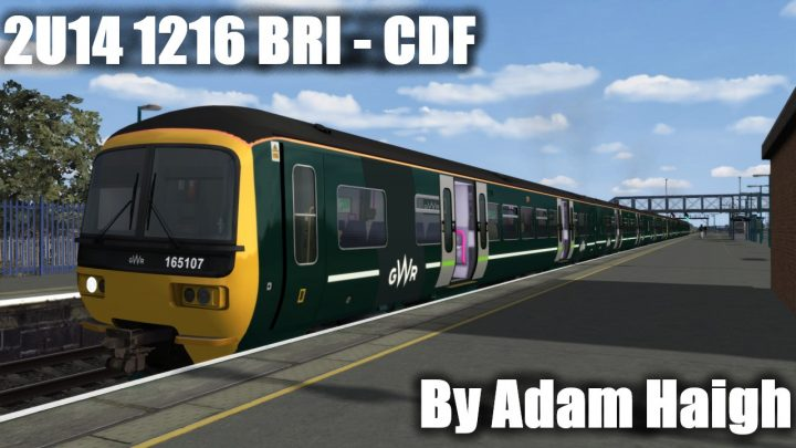 2U14 1216 Bristol Temple Meads to Cardiff Central