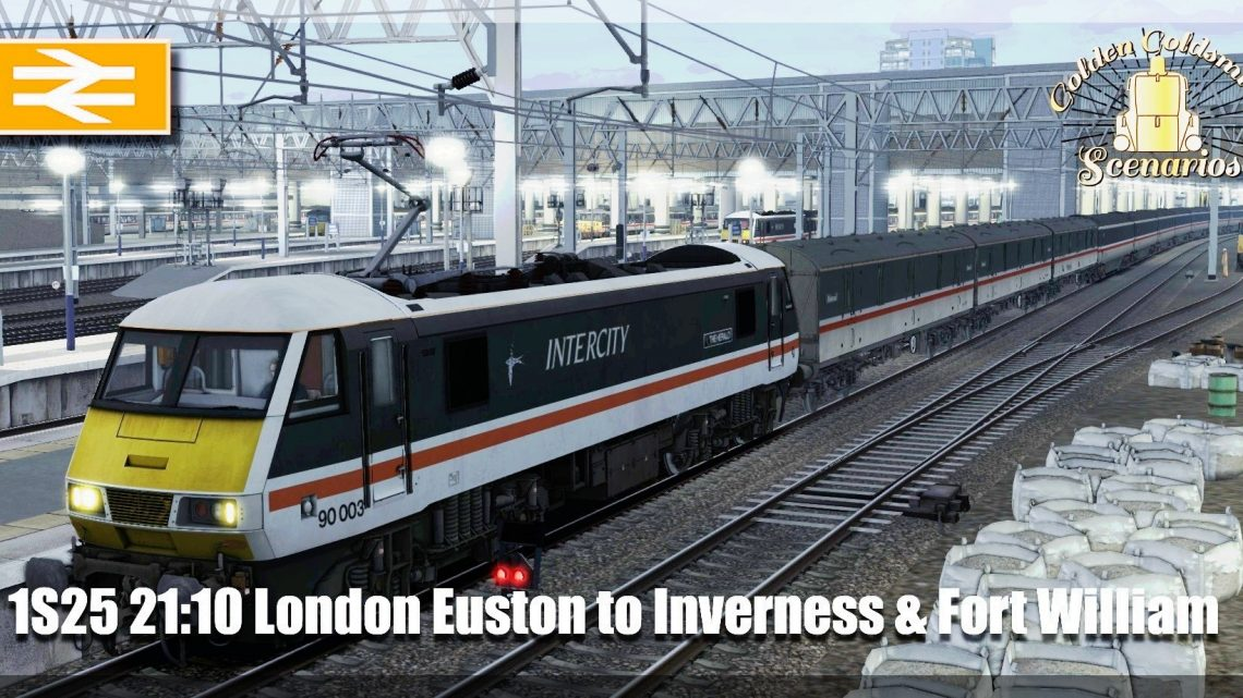 G.G.S 1S25 21:10 London Euston to Inverness & Fort William