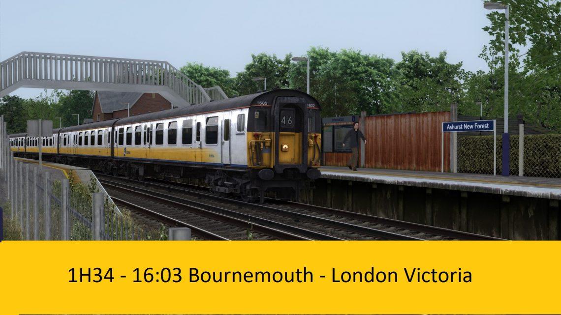 JL Scenarios – 1H34 – 16:03 Bournemouth to London Victoria [semi fictional] V1.1