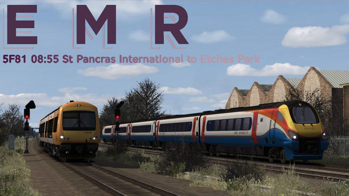 5F81 08:55 St Pancras International to Etches Park