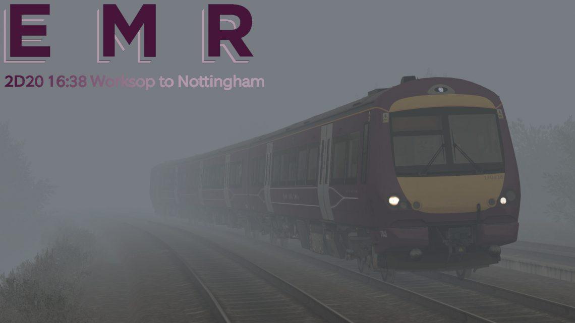 2D20 16:34 Worksop to Nottingham