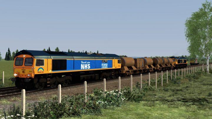 (WM) 3J01 Bescot TMD – London Euston (66731)