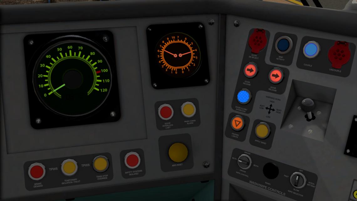 Class 170 Cab Texture fixes and dial light effect textures
