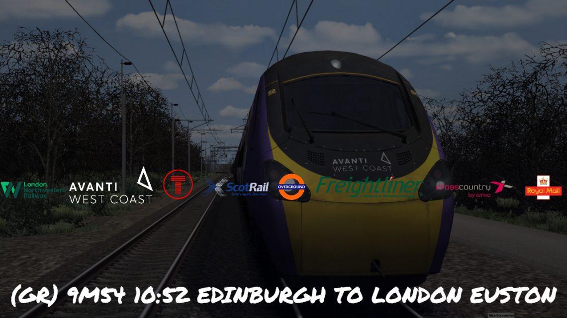 (GR) 9M54 1054 Edinburgh Waverley To London Euston *(Full Run)