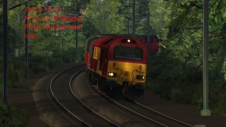 1M29 19.50 Norwich-Willesden PRDC Railnet mail vans [BP]