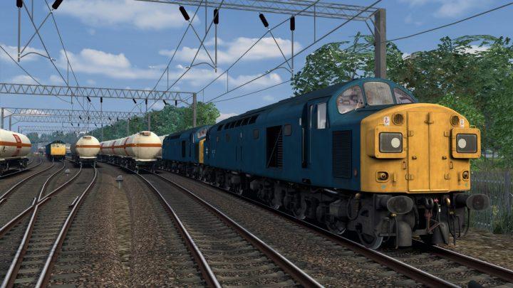 6F57 15:48 (40135 & 40177) Wolverhampton – Ditton BOC TEA Tanks (1983)