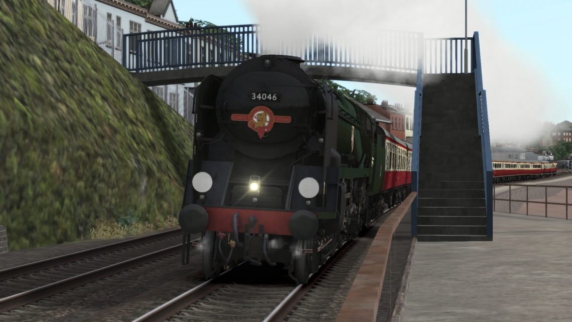 34046 Braunton Unlined Green (as per 2019) + Saphos Trains Headboard V1.1