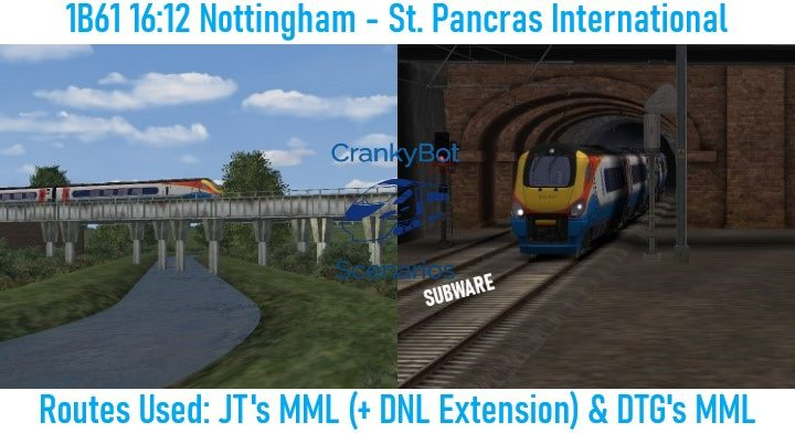 *SUB ONLY* [CB] 1B61 16:12 Nottingham – St Pancras International