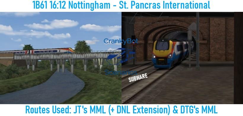 *SUB ONLY* [CB] 1B61 16:12 Nottingham – St Pancras International
