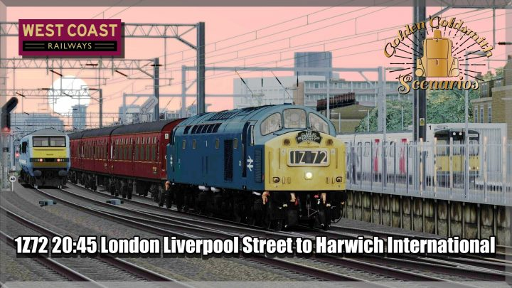 G.G.S 1Z72 20:45 London Liverpool Street to Harwich International