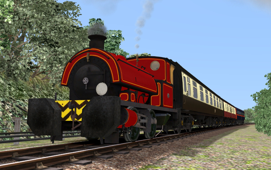 Red Falmouth Tank Engine 0-4-0 ST