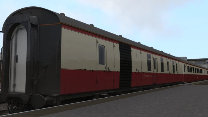 Locomotive Services Generator Coach 6311 (plus altered roof textures). V1.2