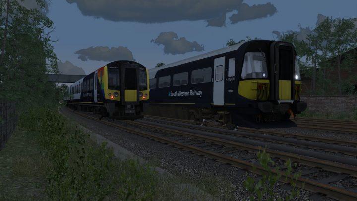 sa_pi1: Class 442 9B95 18:48 London Waterloo – Poole Scenario Pack