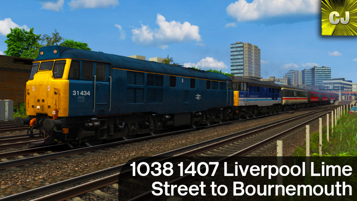 1O38 1407 Liverpool Lime Street to Bournemouth