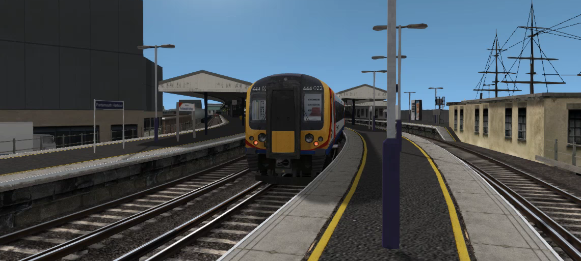 Trains at: Portsmouth Harbour