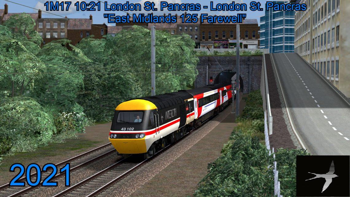 "[CH] 1M17 ""East Midlands 125 Farewell"" 10:21 London St. Pancras – London St. Pancras"