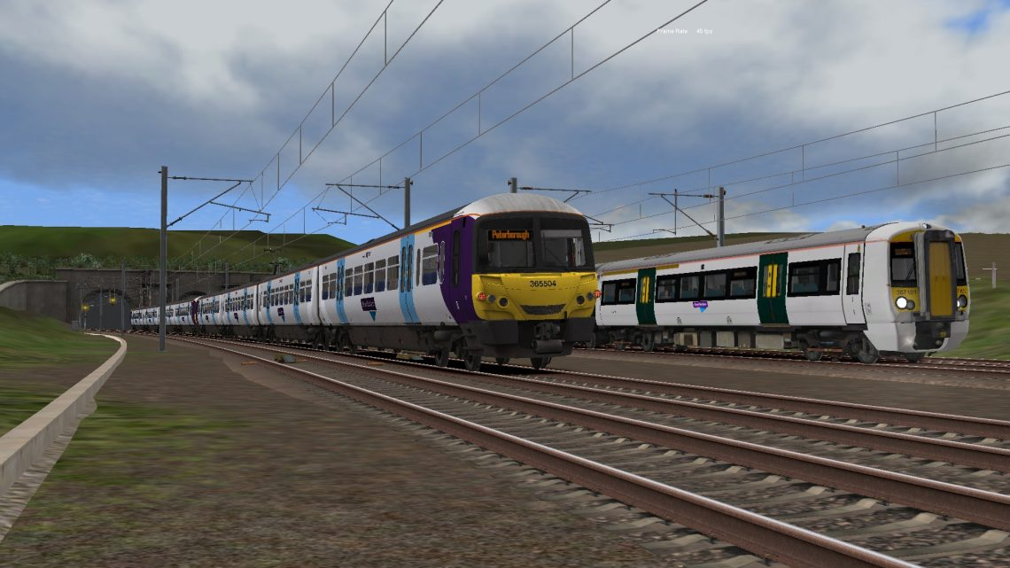 1P52 Last Class 365 From London To Peterborough