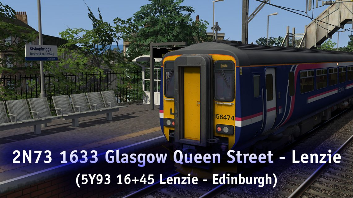 2N73 1633 Glasgow Queen Street – Lenzie