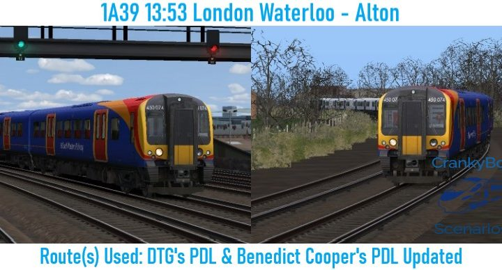 [CB] 1A39 13:53 London Waterloo – Alton